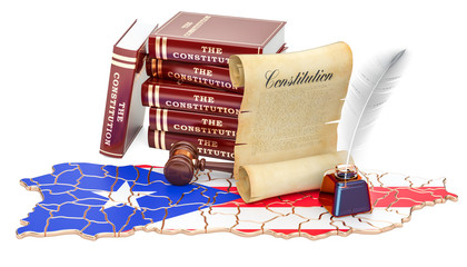 Constitution of Puerto Rico concept, 3D rendering