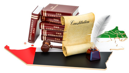 Constitution of United Arab Emirates concept, 3D rendering