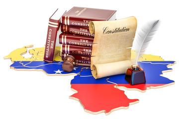 Constitution of Venezuela concept, 3D rendering