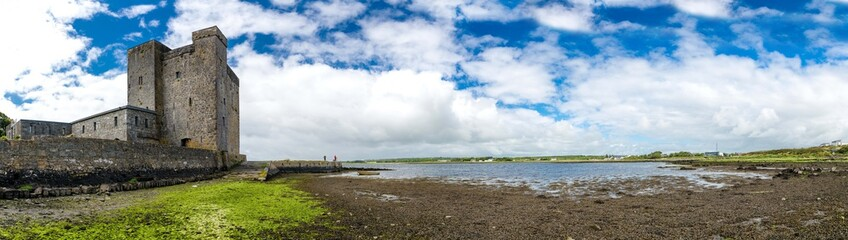 Landscape of Oranmore castle in county Galway. Irelan, Uk.