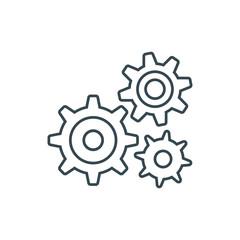 settings icon, Cogwheel gear mechanism vector settings vector icon