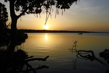 Sunset in Kenya - Mida Creek in Watamu
