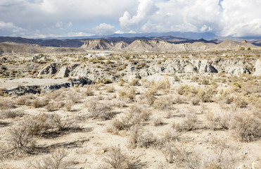Tabernas desert dry landscape, Almeria, Spain