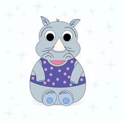 illustration of a small rhinoceros