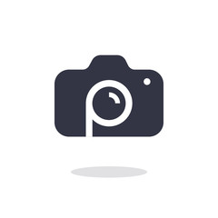 Camera icon in trendy flat style isolated on white background camera symbol for your web site