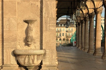 Arkaden an der Stadthalle zur Schlossbrücke