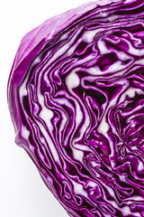 Close up of purple red cabbage head