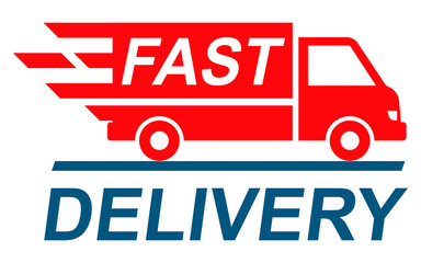 Fast shipping delivery truck, shipping service – stock vector