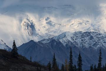 Snowfields & glaciers in Alaska Range