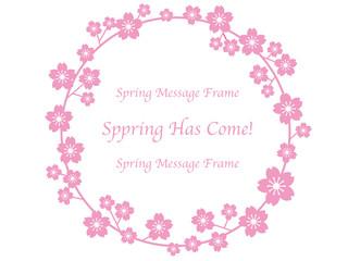 春のメッセージフレーム