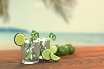 Brazilian Caipirinha And Beach #2 - Photo Realistic (3d Rendered)