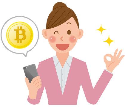 女性 スマホ ビットコイン