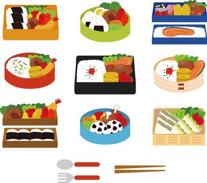お弁当のイラストセット