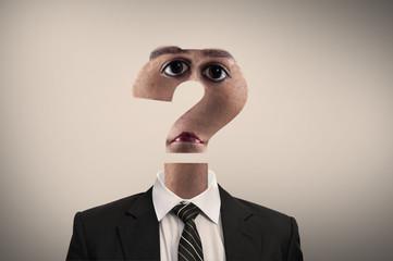 Unknown businessman face