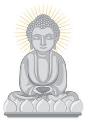 Buddha image on white background