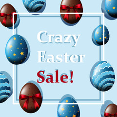 Poster design for crazy easter sale