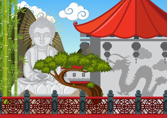 Buddha figure in chinese temple