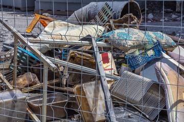 tas d'ordures à recycler