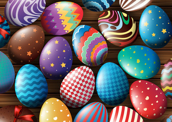 Background design with decorated eggs