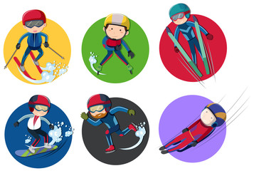 Sticker design for winter sports