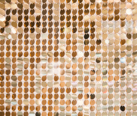 Golden sequins - sparkling sequined texture. Can use as background. Copy space
