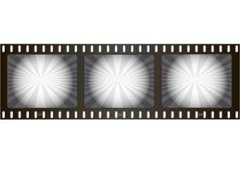 Old retro film, cinema
