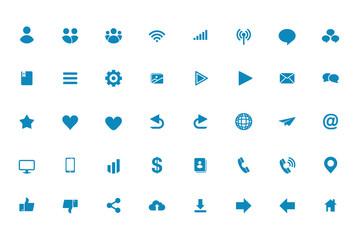 Universal Plain Icon Set
