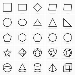 Geometric figures icons