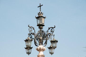 Lamp posts in Seville