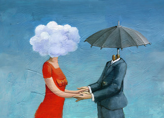 made for each other surrealism illustration love