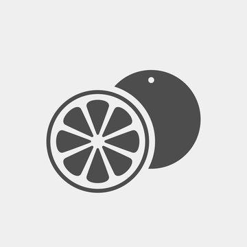 Orange flat vector icon