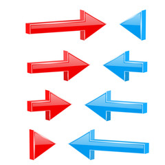 Red and blue straight arrows. Web 3d shiny icons