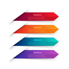 Vector gradient arrows elements for infographic. Template for diagram, graph, presentation and chart. Business concept with 4 options, parts, steps or processes. Abstract background.