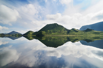 Reflection in a lake, Iceland