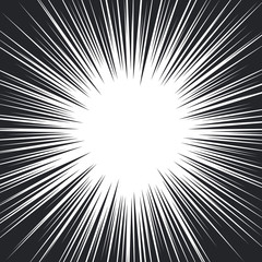 Comic Book Black and White Radial Speed Lines