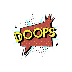 Illustration of Doops word with explosion