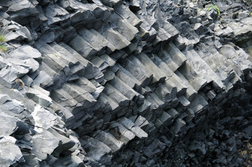 Basaltic columns in Iceland