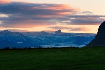 Vatnajökull at sunset, Iceland