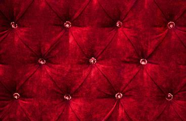 Red diamond pattern velvet upholstery background