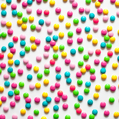 Food Background of multicolored sweet candy dragees