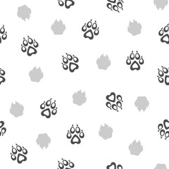 Seamless Pattern with Traces of Dogs