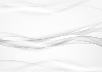 Grey abstract smooth smoke lines background