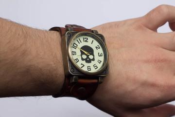 Broken wristwatch background