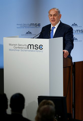 Israeli Prime Minister Netanyahu speaks at the Munich Security Conference in Munich