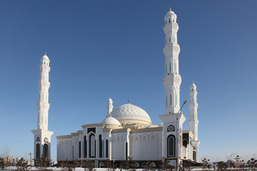 View at Cathdral Mosque in Astana, Kazakhstan