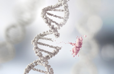 DNA helix break or Replace for concept Wall mural