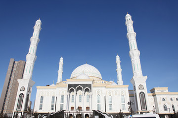 Main gate of cathdral Mosque in Astana, Kazakhstan