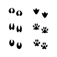 Animal tracks. Information for the hunter. Vector illustration