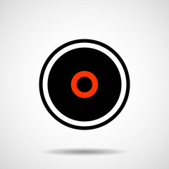 Creative logo of circle. Geometric shape. Vector design element