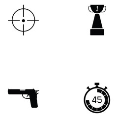 clay shooting icon set